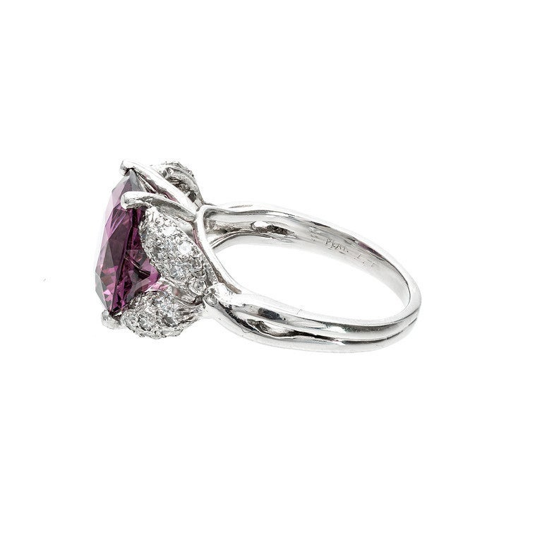 Natural Purple Spinel Diamond Ring 2