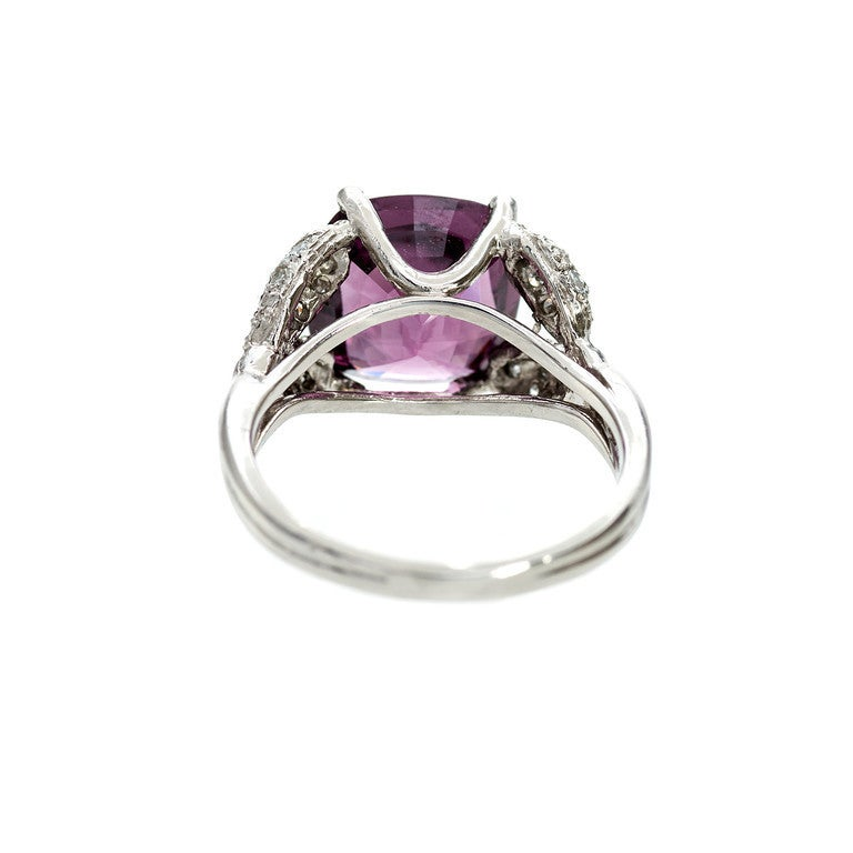 Natural Purple Spinel Diamond Ring 3
