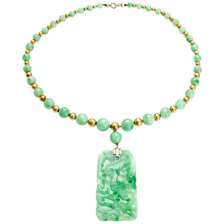 graduated jadeite jade bead necklace for