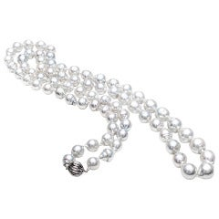 South Sea Baroque Cultured White Pearl Gold Necklace