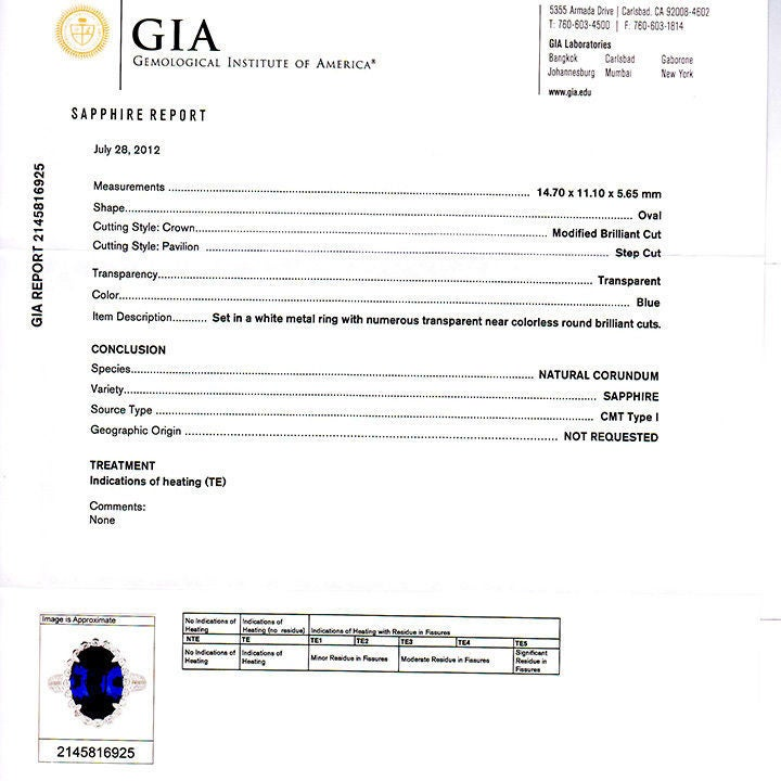 GIA Certified 6.48 Carat Oval Sapphire Diamond Halo Platinum Engagement Ring For Sale 1