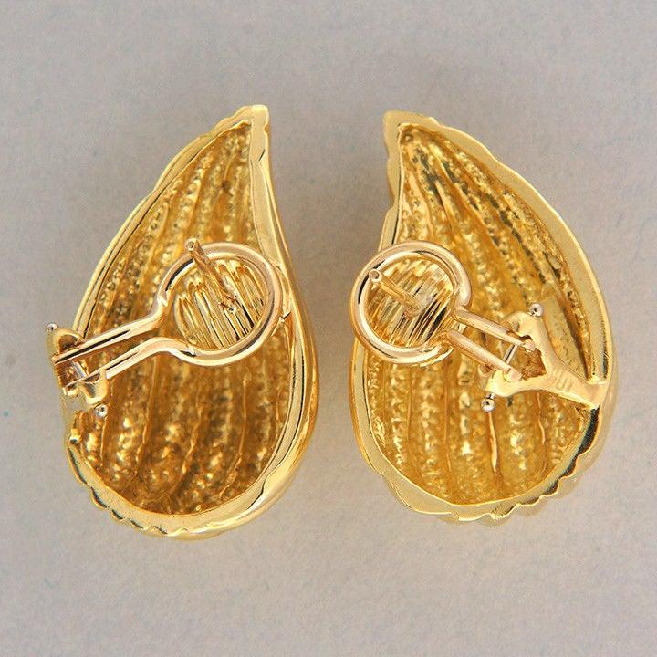 Tiffany & Co. Gold Tear Drop Clip Post Earrings 2