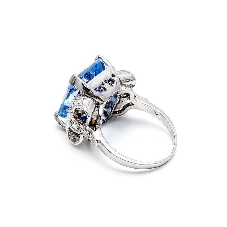 Natural Sapphire Diamond Bow Ring 4