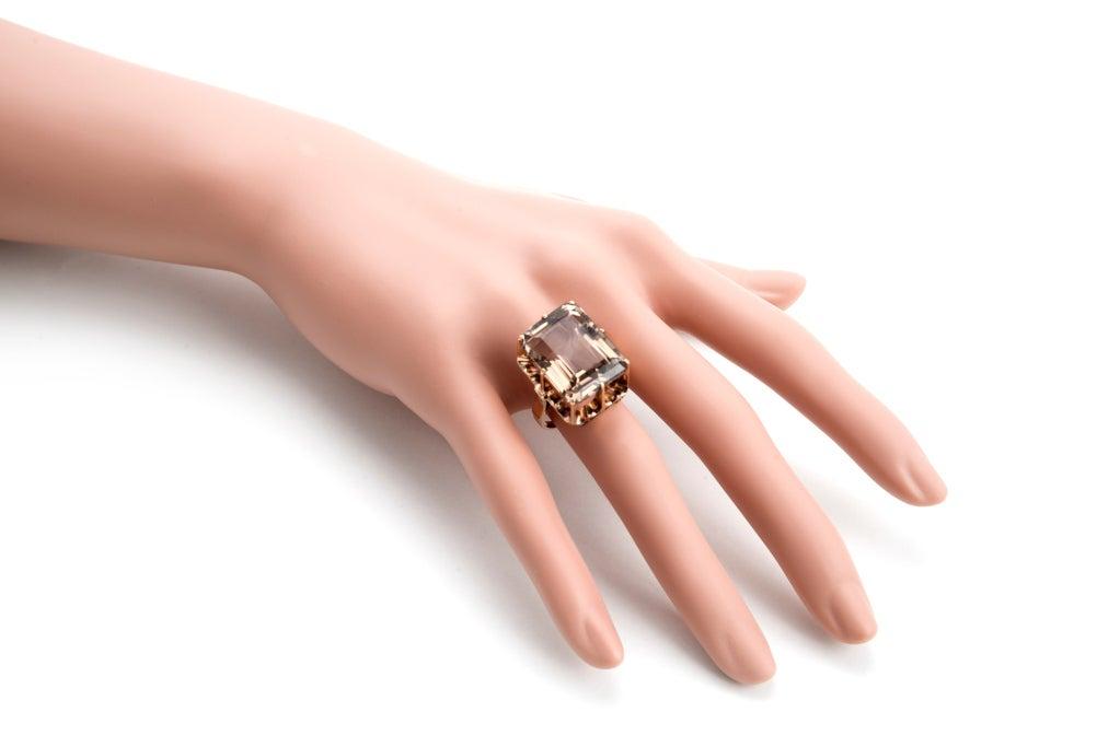Morganite And Smoky Quartz Ring