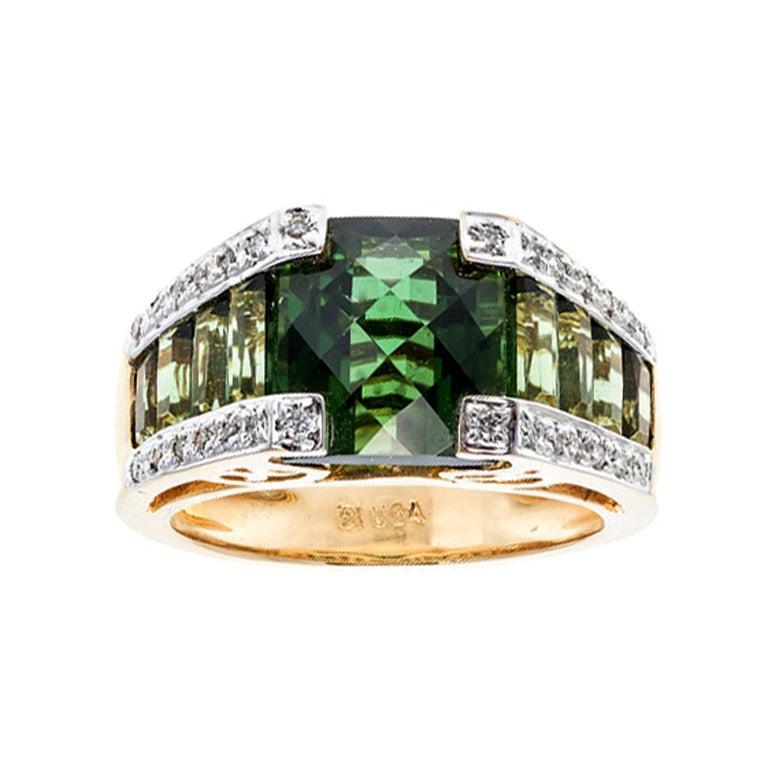 bellari green tourmaline ring at 1stdibs
