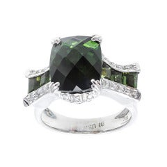 Bellari Green Tourmaline Diamond Ring