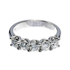Wedding Band Diamond Platinum Ring