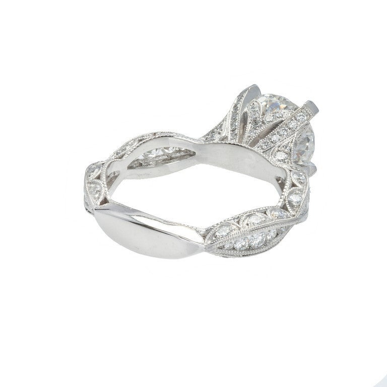 suchy platinum infinity engagement ring for