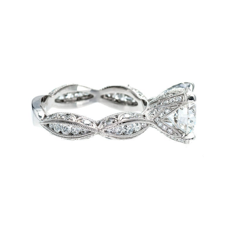 platinum infinity engagement ring at 1stdibs