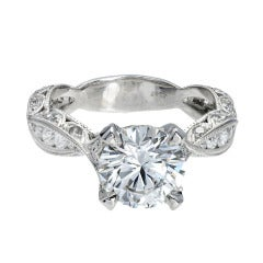 Peter Suchy Diamond Platinum Infinity Engagement Ring