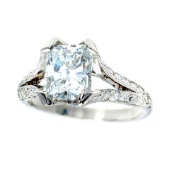 Peter Suchy 2.00 Carat Radiant Cut Diamond Platinum Engagement Ring