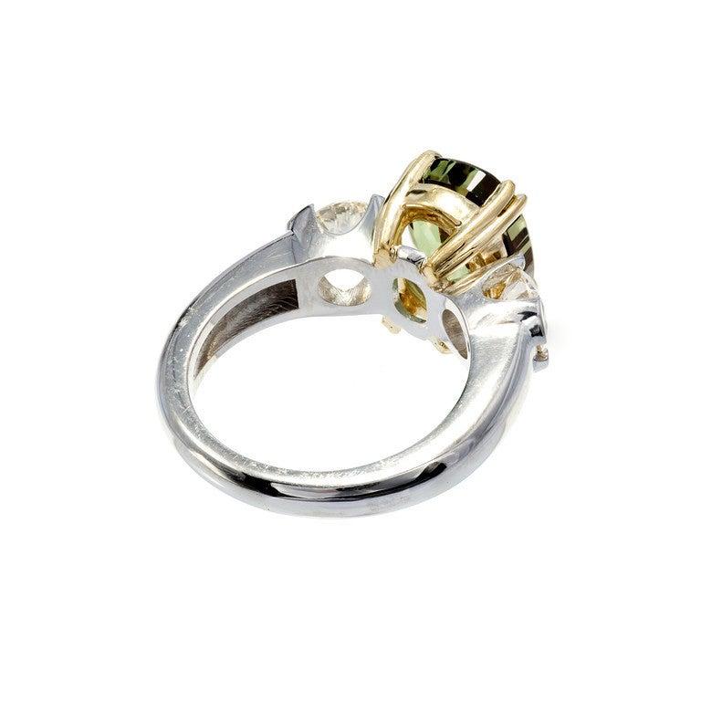Women's Peter Suchy 5.40 Carat Natural Alexandrite Diamond Platinum Gold Engagement Ring For Sale