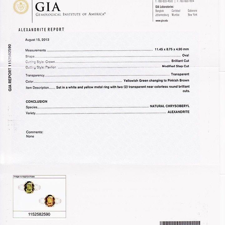 Peter Suchy 5.40 Carat Natural Alexandrite Diamond Platinum Gold Engagement Ring For Sale 2