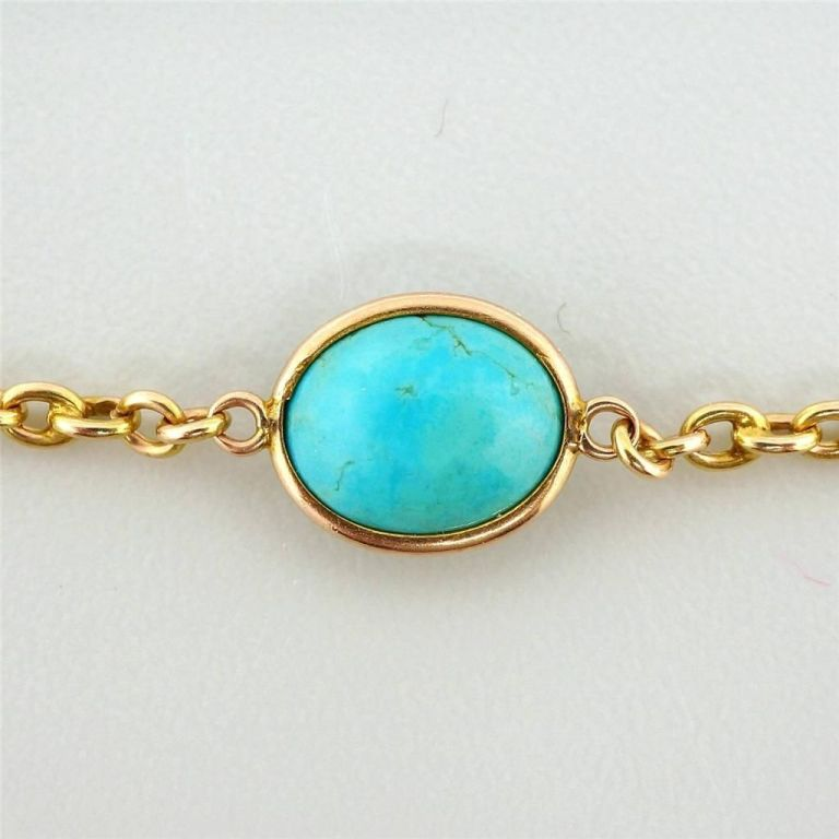 turquoise gold necklace at 1stdibs