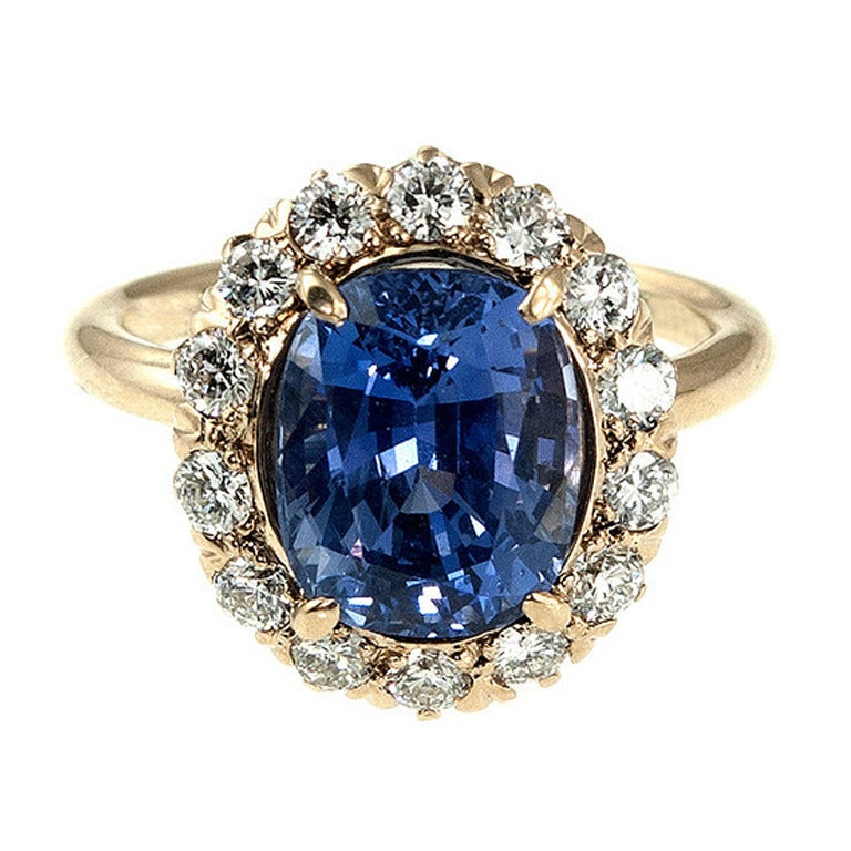 Tiffany and Co Sapphire Diamond Ring at 1stdibs