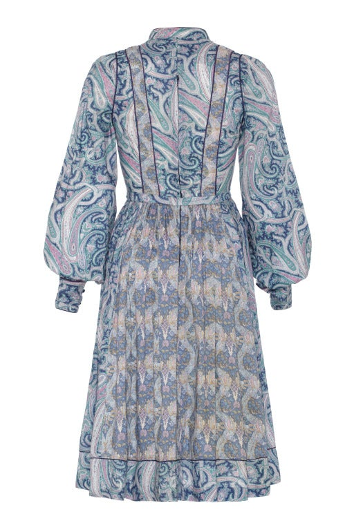 1970's Liberty Print Dress With Quilted Panel 2