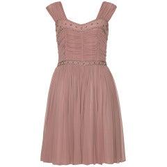 1950's Dusky Pink 'Heiress' Cocktail Dress