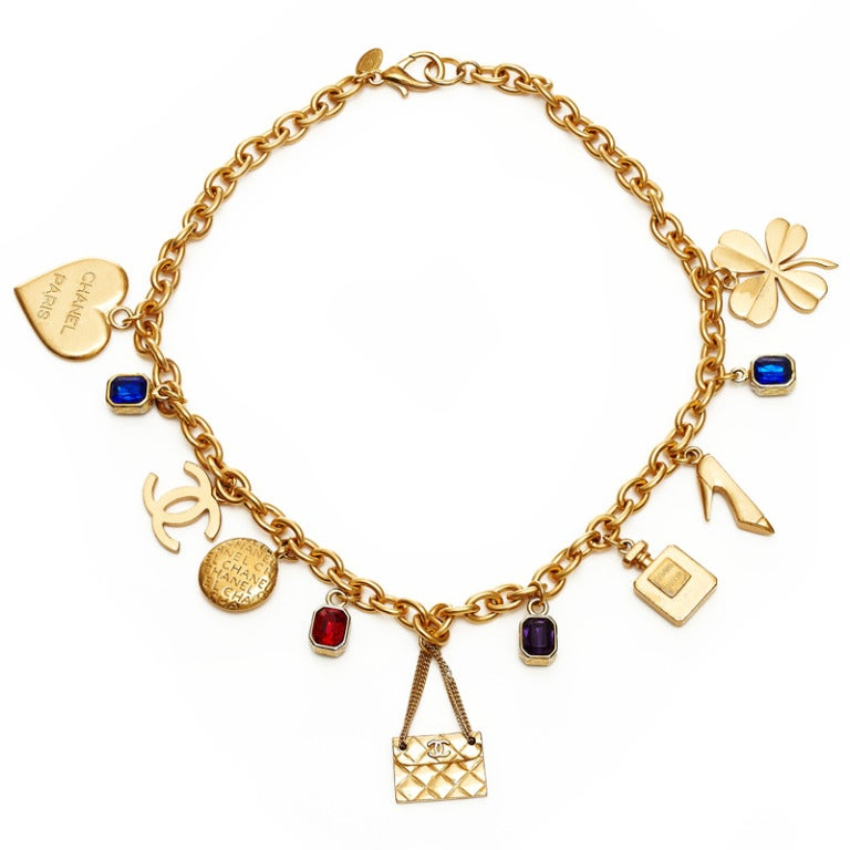 1980s chanel gold charm necklace at 1stdibs