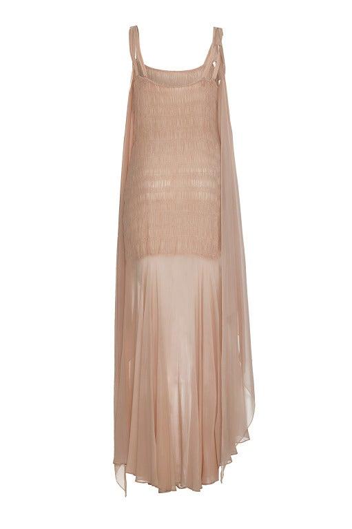 1920s-30s Blush Pink Full Length Dress 2