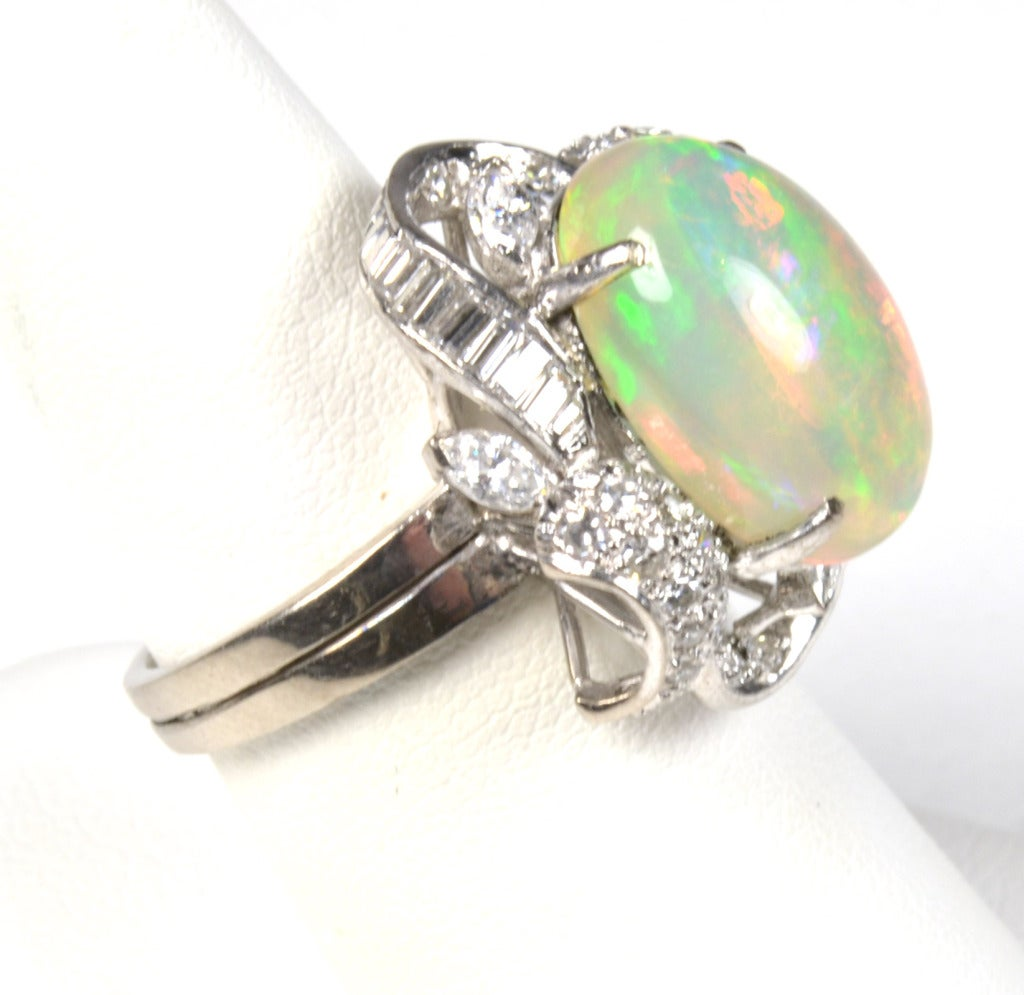 opal white gold ring at 1stdibs
