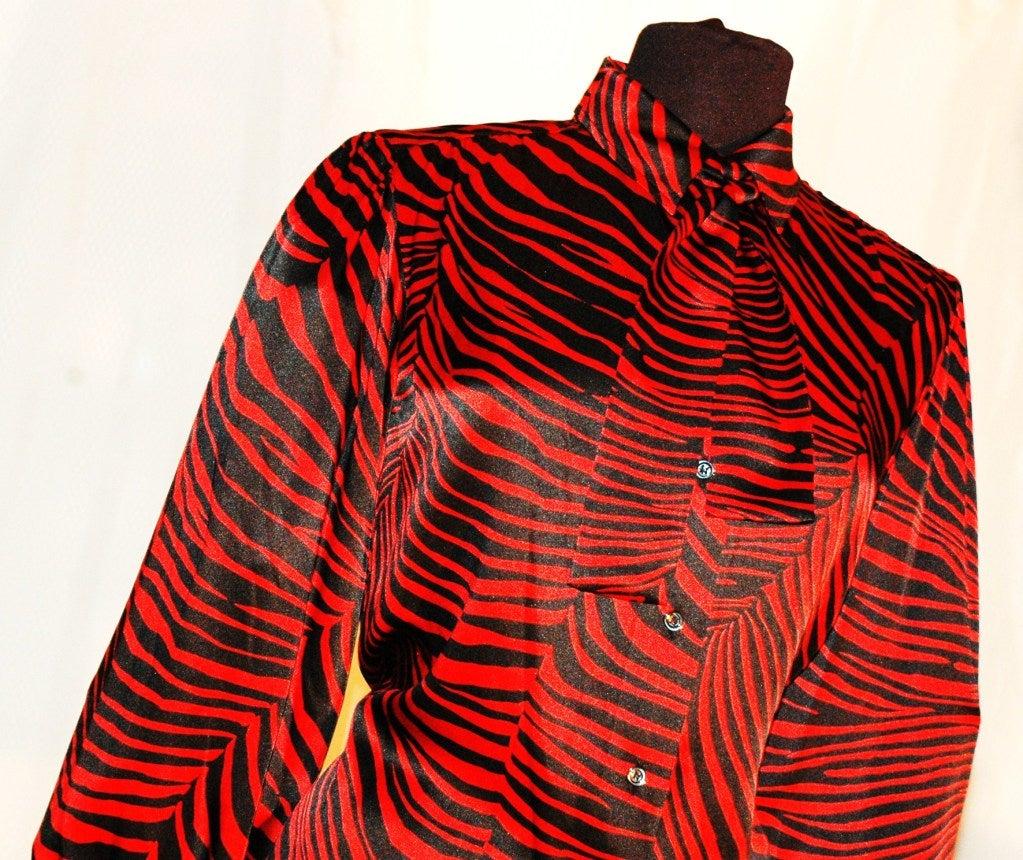 Zebra Print Blouses Sale 109