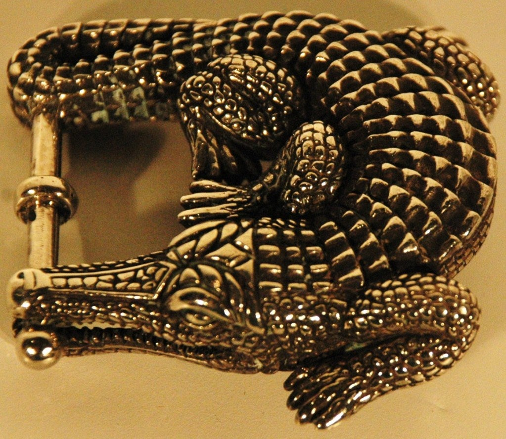 Barry kieselstein cord sterling silver 925 alligator belt for Barry kieselstein cord jewelry