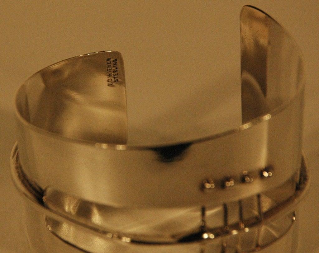 Vintage Ed Wiener 1954 Sterling Silver Cuff Bracelet