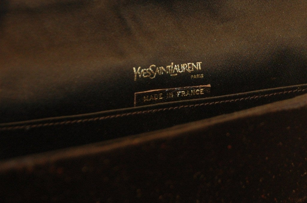ysl black vintage clutch