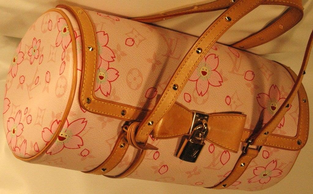 Louis Vuitton Pink Cherry Blossom Papillon Handbag At 1stdibs
