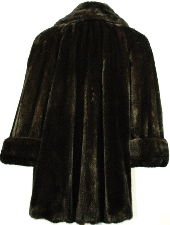galanos black onyx mink fur coat for neiman marcus at 1stdibs. Black Bedroom Furniture Sets. Home Design Ideas