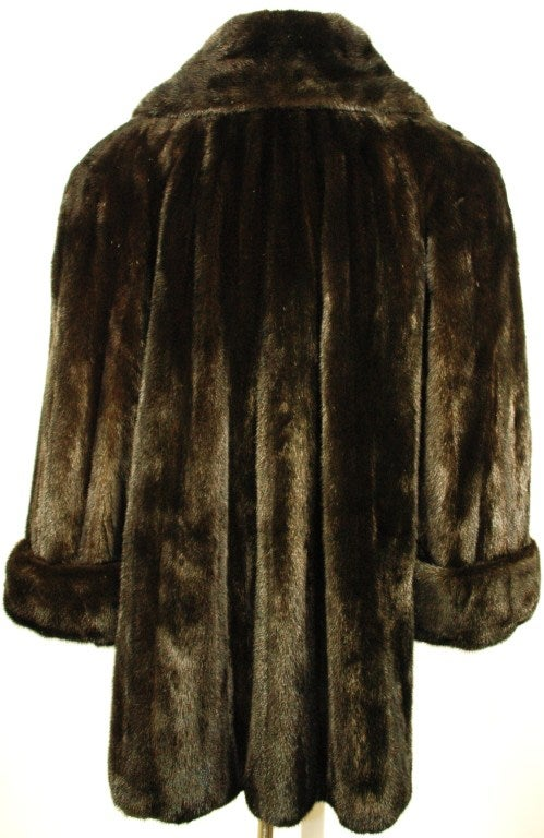 galanos black onyx mink fur coat for neiman marcus for. Black Bedroom Furniture Sets. Home Design Ideas