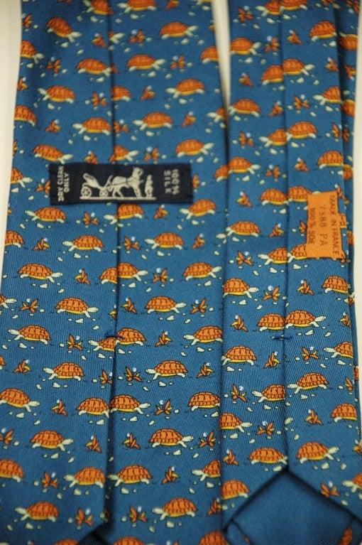 Hermes Turtle Pattern 7388 Pa Silk Tie At 1stdibs