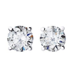 Renesim 1 Carat D Flawless Diamond Stud Earrings