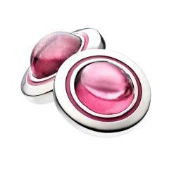 Renesim Pink Tourmaline Palladium Cufflinks