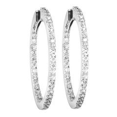 RENESIM Classic Diamond Hoop Earrings