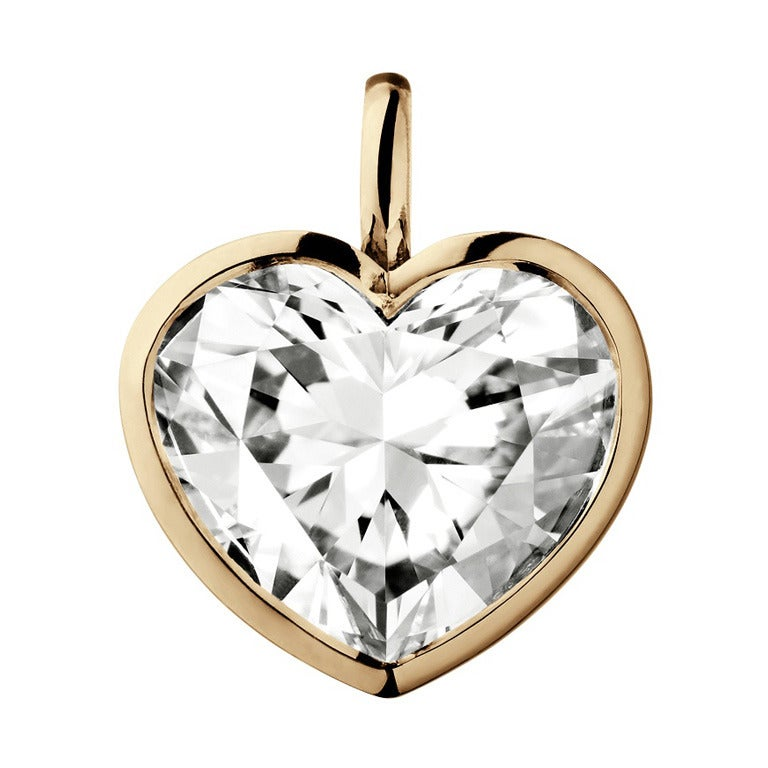 Renesim Heart Shaped Diamond Gold Pendant