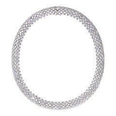 RENESIM Diamond Necklace with Brilliant-Cut Diamonds of Approximately 60ct G VS1