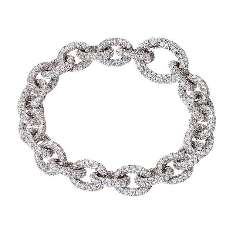 RENESIM Brilliant Link Bracelet with Colorless Diamonds 1