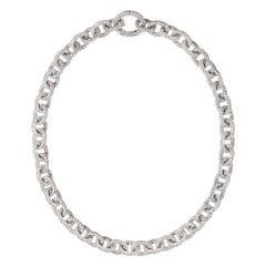 RENESIM Briliiant Link Necklace Set with Brilliant-Cut Diamonds
