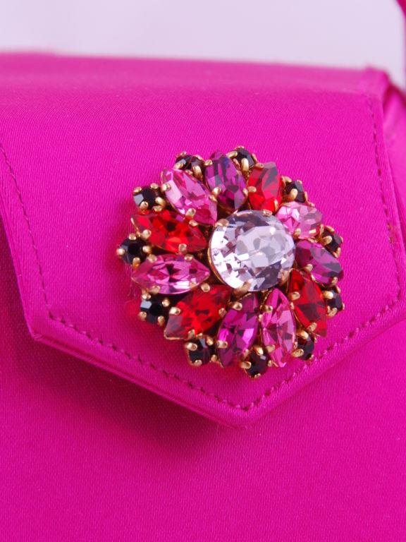 Renaud Pellegrino Shocking Pink Jeweled Evening Bag image 2
