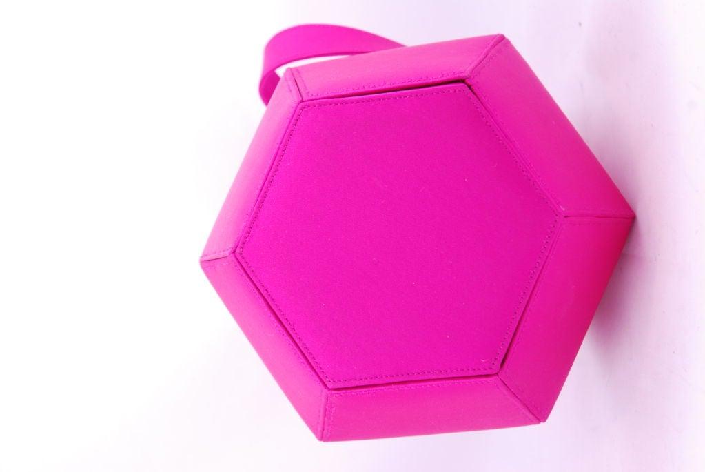 Renaud Pellegrino Shocking Pink Jeweled Evening Bag image 4