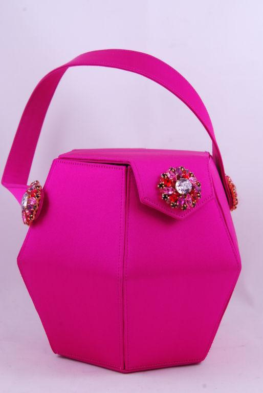 Renaud Pellegrino Shocking Pink Jeweled Evening Bag image 6
