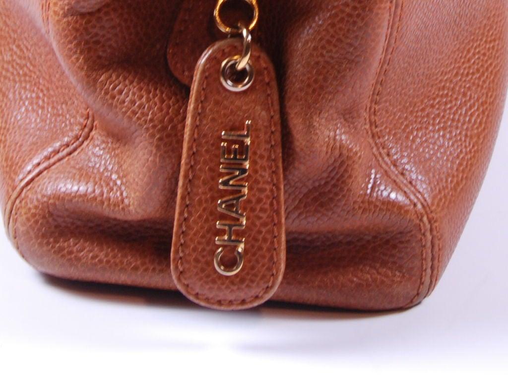 1980's Caviar Leather Chanel Bag image 4