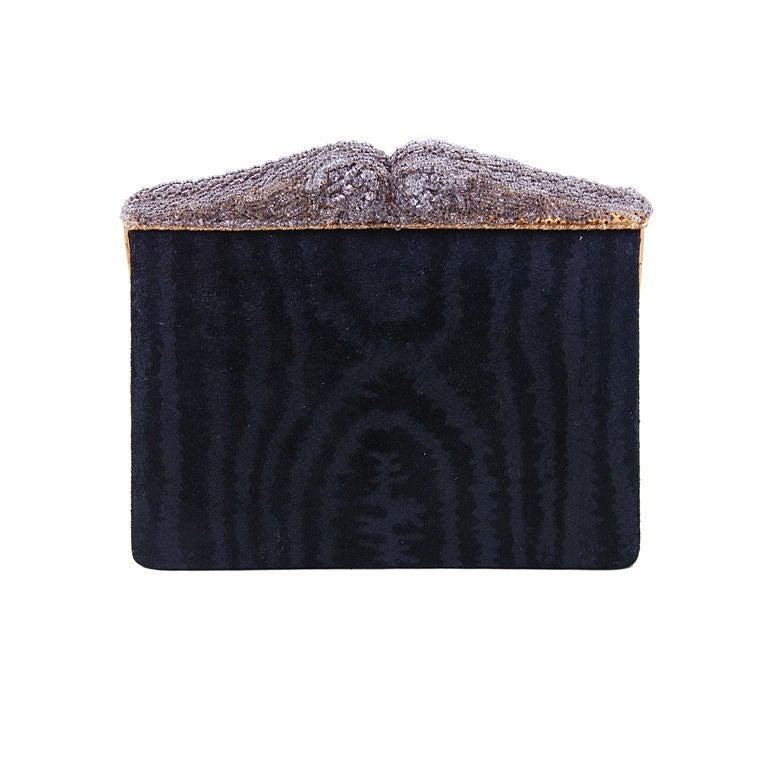vintage jacomo black suede evening bag with beaded frame Red Leather Handbag cfcce54c0e27b