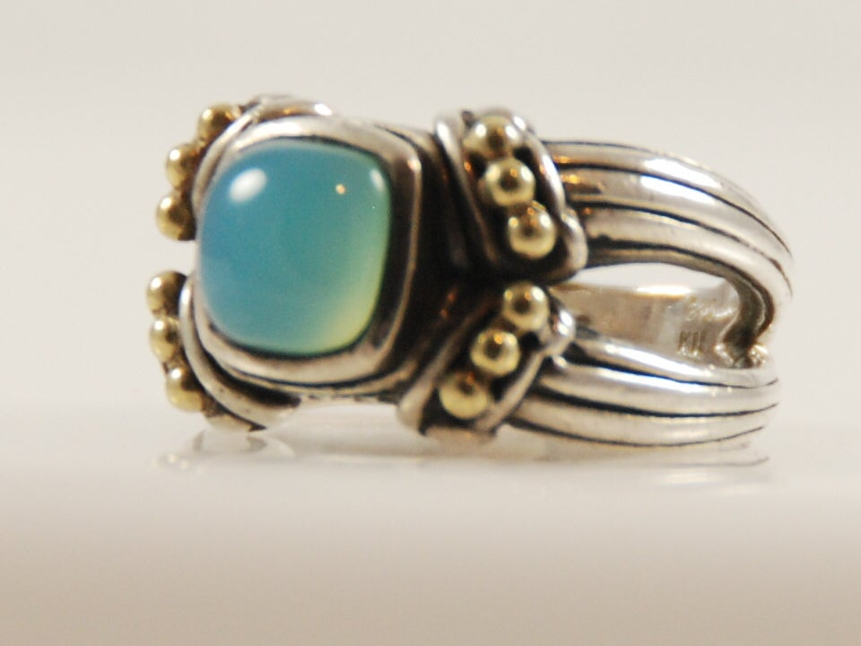 sterling silver and 18k ring by fred at 1stdibs