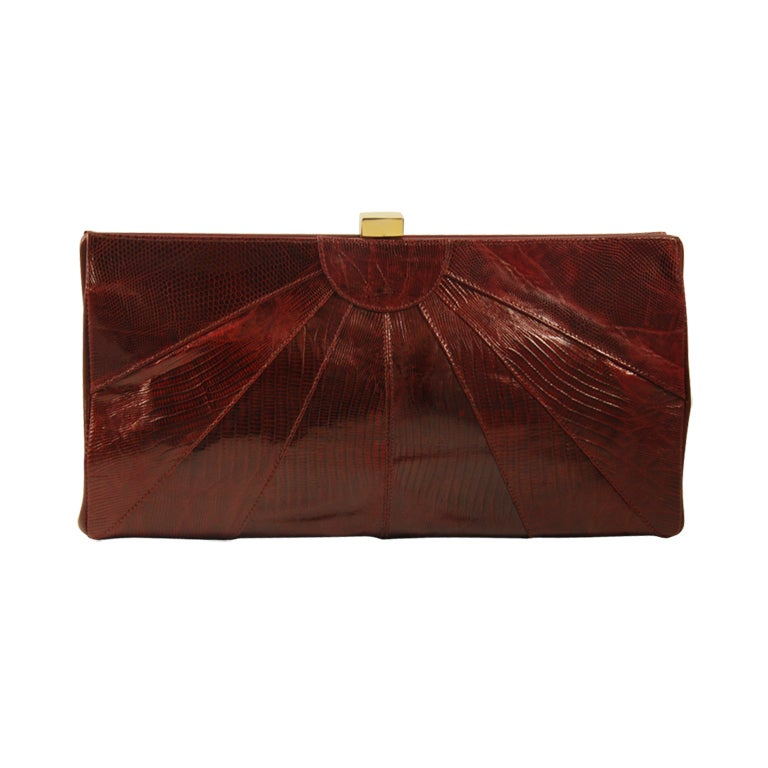 Picnic Basket Ennis : Early bennis edwards couture collection lizard clutch at