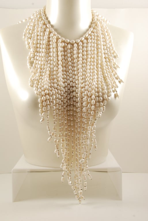 Grand Fresh Water Pearl Cascade Necklace image 2