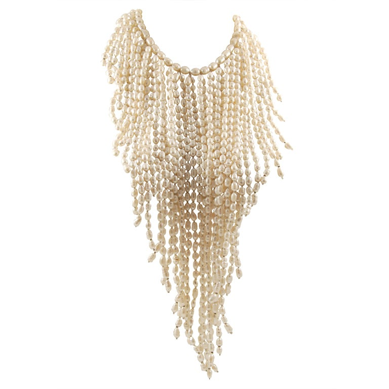 Grand Fresh Water Pearl Cascade Necklace