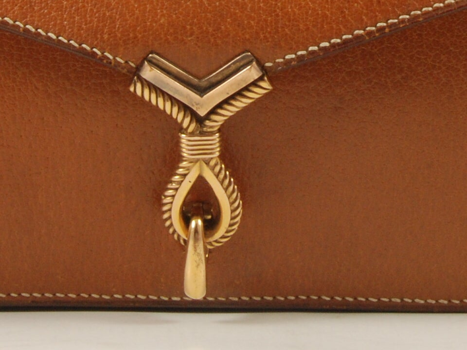 1960's Hermes Peau Porc Leather Vintage Hand Bag image 2