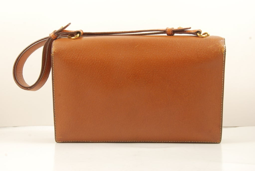 1960's Hermes Peau Porc Leather Vintage Hand Bag image 3